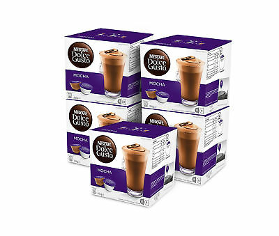 BULK NESCAFE Dolce Gusto Mocha 5 boxes 40 Coffee and Milk Pods Capsules