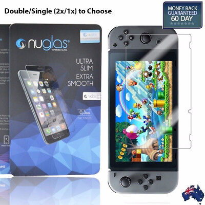 Genuine NUGLAS Tempered Glass Screen Protector for Nintendo Switch Double/Single