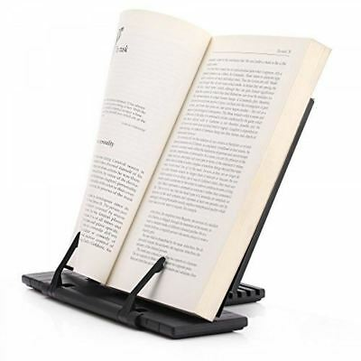 Adjustable Metal Reading Stand Portable Kitchen Recipe Holder Music Bookstand