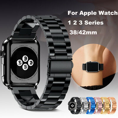 Stainless Steel Strap For Apple Watch iwatch Band 38/42mm Metal Links Bracelet