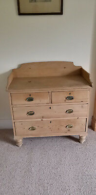 Antique pine chest of drawers washstand