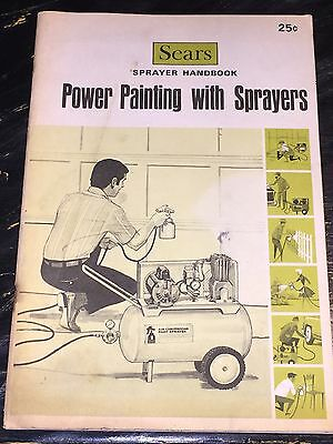 Vintage 1960s Sears Power Painting With Sprayers Manual Instructions