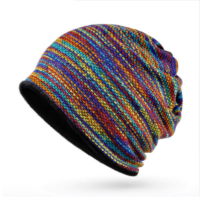 e779469869c3b2 Winter Knitted Hat For Men Women Cap Beanie Colorful Rainbow Soft Head Wear  Hats