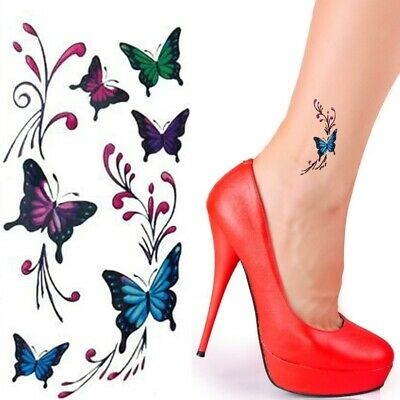Einmal Tattoo Schmetterling Temporary Tattoo Aufkleber Temporäre Tattoos R227