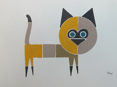 Two Vintage Paintings of Cats by Al Robi (1922-2007)