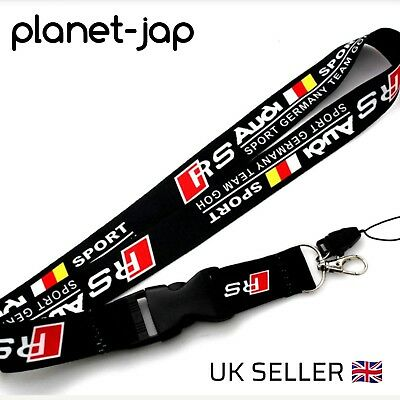 Audi lanyard keyring RS S line A3 A4 A5 A6 S5 S4 S3 RS3 RS4 RS5 RS6 RS7 S8 GOH
