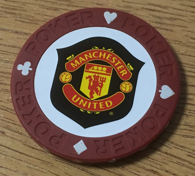Official MAN UTD POKER Chip GOLF Ball Markers Manchester United Set Chips NEW