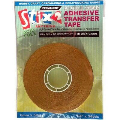 Stix2 S57263 DoubleSided Adhesive TransferTape 6mm x 50mm Only for ATG dispenser