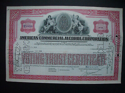 Aktie American Commercial Alcohol Corporation 10 shares 1930