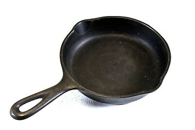Vintage Wagner Ware -0- Sidney 1053 P  #3 Cast Iron Skillet Frying Pan 6""