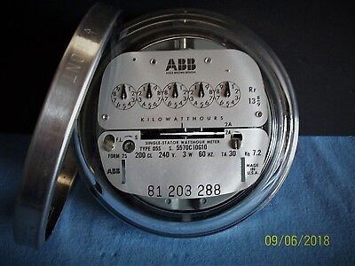 ABB, 240 volt, 200 amp 3 wire Residential Meter With Mounting Ring