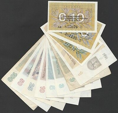 L07 LITHUANIA 12 Pick varieties for 1991 issue incl. scarcer types without text!