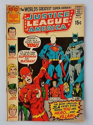 Justice League of America #89 FN+ condition Neal Adams cover!