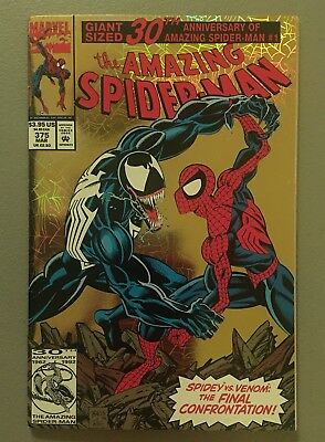 Amazing Spider-Man 375 VF/NM Awesome Venom vs Spidy cover $3.95 unlimited Ship!