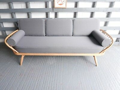 Cushions & Covers Only. Ercol Daybed.  92% Grey Wool with Piping & Bolsters