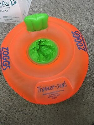 Zoggs Trainer Seat Up To 11kg 3-12 Months. Swimming/water/floating Aid. Toddler.