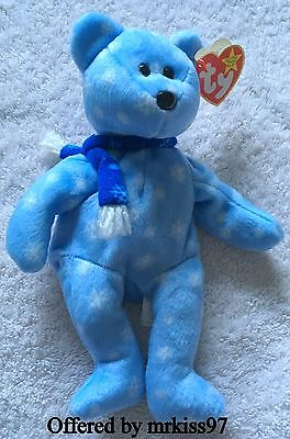 Ty Beanie Original Baby 1999 Holiday Teddy Snowflake DOB with Tag Retired