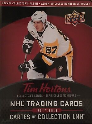 2017-18 Tim Horton's Complete Base Set plus all insert sets in the album MCDAVID
