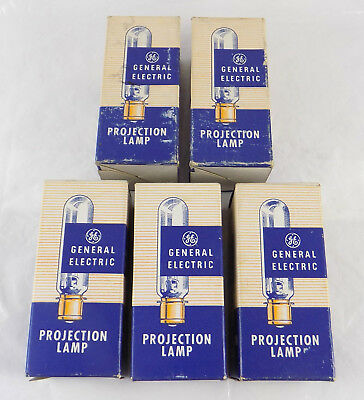 5 General Electric Dfw 500 Watts 115-120V Projection Lamps  Bulbs New Old Stock