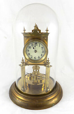 Antique Full Size Anniversary Or 400 Day Clock With Disc Pendulum - Huber ?