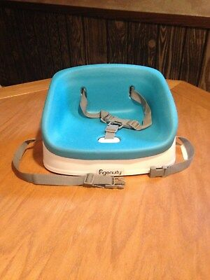 Ingenuity Smart Clean Toddler Booster Seat W/Removeable Insert Turqouise Strong