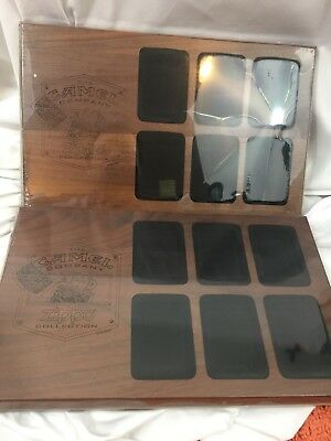 2 Walnut Wooden Displays For Camel Cigarettes Zippo Lighters - Each Holds 6