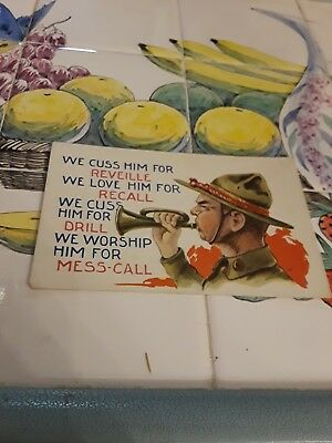 WWI ARMY Postcards 5 card lot of army life.   WMCA cards,  army life Spanish flu