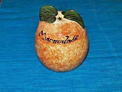 Vintage Toni Raymond Marmalade Pot designed as an Orange,Hand Painted,England
