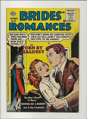 Brides Romances 22 Fine 6.0 Quality Comics 1956 Romance