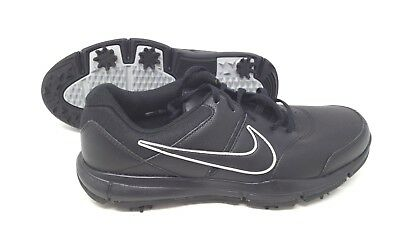 MEN S NIKE DURASPORT Golf Shoes Size 10 844550 001 Black Silver NWOB ... 925abb731c6