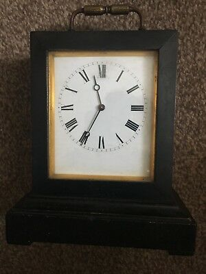 RARE ANTIQUE : c1870 - VAP BREVETE CARRIAGE CLOCK WITH KEY - MARITIME