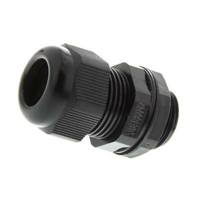 5 x RS Pro M20 Black Nylon, IP68 Cable Gland With Locknut