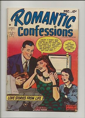 Romantic Confessions 3 VG+ 4.5 GGA Bathing Suit Issue Hillman Publ 1949
