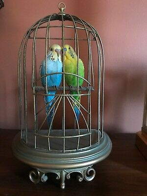 Danbury Mint Perfect Perch Parakeets In Cage By Bob Guge - Wow!