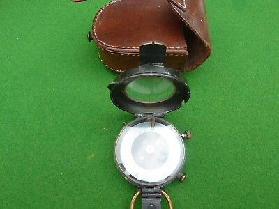 A West And Partners 1918 Verners Pattern Compass With Case