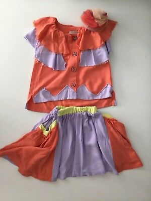 Raspberryplum Girls Skirt Tutu And Sleeveless Top Shirt Age 3/4 Years Outfit Set