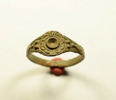 Perfect Medieval Bronze Ring - Wearable Artifact