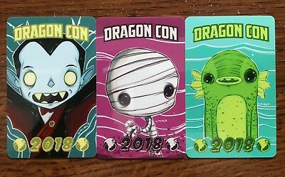 2018 Dragon Con Complete Hotel Room Keycard Set by Uminga