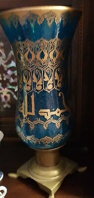 Antique Islamic Bohemian glass Painted Lamp