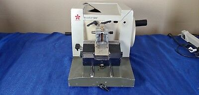 Sakura SRM 200 CW manual rotary microtome with retraction damage to casing