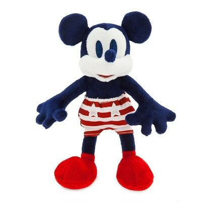 "Disney Store Authentic Mickey Mouse Americana Vintage Style Plush - 8 1/2"" NWT"