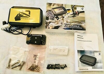 BMW Motorrad Part# 77528563125 + 77528529421 - Smartphone Cradle + Bracket!  NEW