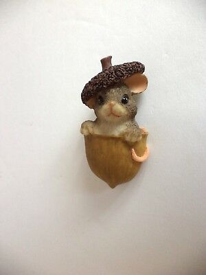Fitz And Floyd Charming Tails Mouse In Acorn Pin Estate Find
