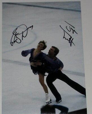 Torvill And Dean Ice Skating Olympics Hand Signed Autograph 12X8 Photo