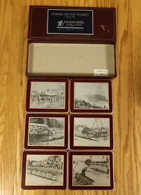 Lady Clare Coaster Set of 6  Rowing on the Thames Austin Reed