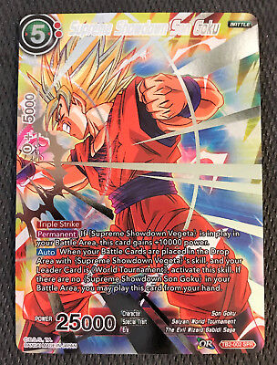 c8211e370d04b SUPREME SHOWDOWN SON Goku TB2-002 SPR Dragon Ball Super TCG NEAR MINT
