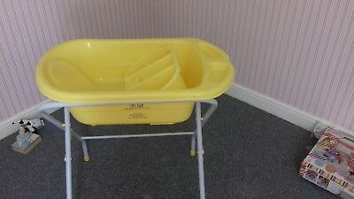Yellow Baby Bath With Stand