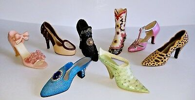 8 MINIATURE BOOT HIGH HEEL SHOES LOT Sarna Raine ! is # 560/6500 Just the Right
