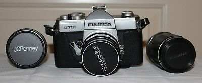 VINTAGE FUJICA ST 701 35mm CAMERA WITH LENS, HOOD AND FILTERS: PRE-OWNED