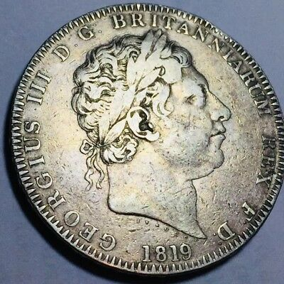 GB . King George III . 1819 . LIX .  Nice  Coin.